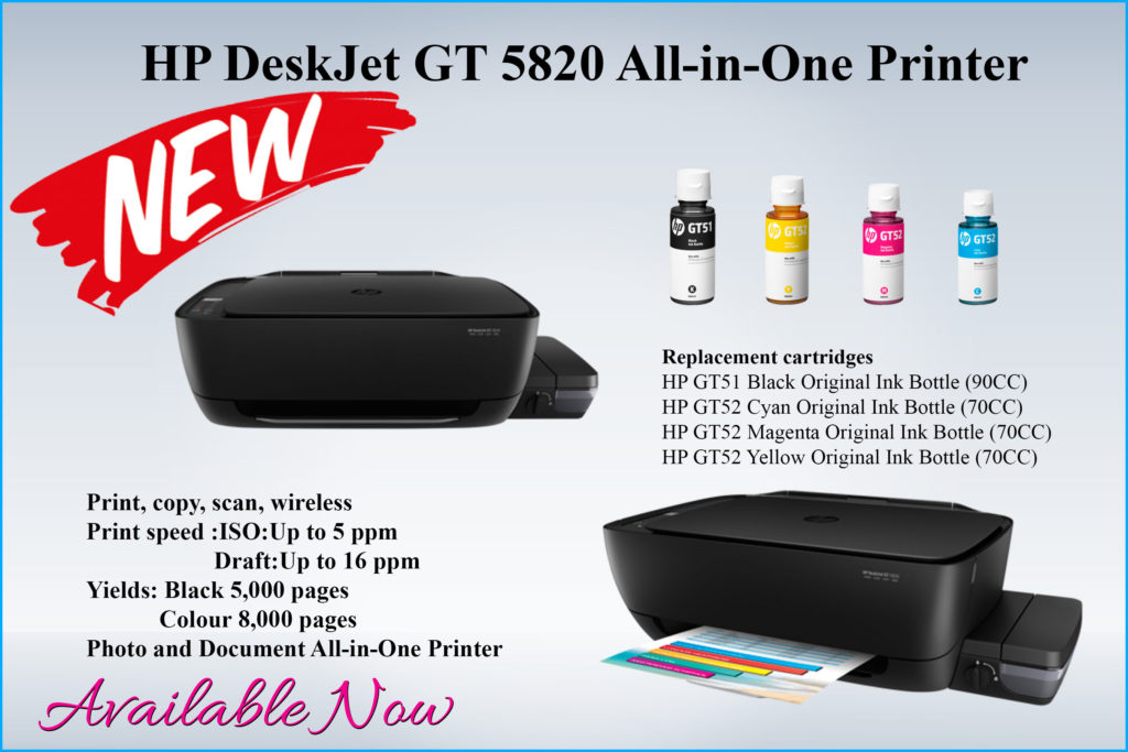 HP DeskJet GT 5820 wireless allinone prints thousands of pages