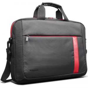LENOVO 15.6 BLACK CARRY CASE WITH RED STRIPE