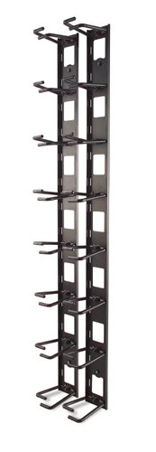 Vertical Cable Organizer, 8 Cable Rings, Zero U