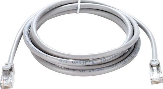 Cat6 UTP 24 AWG PVC Round Patch Cord - 1M - Grey Colour