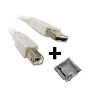 Epson-Dot Matrix Printer-White Compatible 10ft White USB Cable A to B Plus