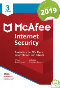 McAfee 2019 Internet Security | 3 Devices | 1 Year