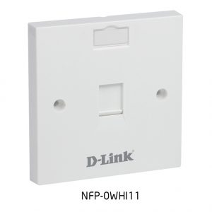 Single Faceplate Accepts One Keystone Jack with Shutter & ID Plate - 86*86 mm - White Colour - Square