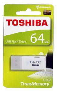 Toshiba USB2.0 Flash Drive 64GB USB 2.0 Flash Disk TransMemory U202 Hayabusa USB Memory Stick White