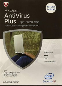 McAfee Anti-Virus Plus - 1 PC, 1 Year (CD)
