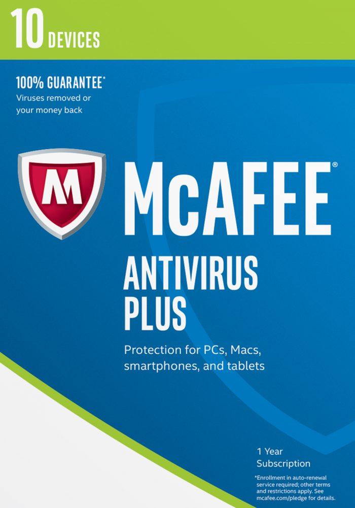 McAfee 2017 AntiVirus Plus-10 Devices
