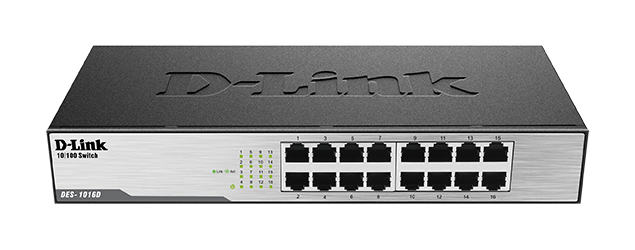 16 port 10/100Mbps unmanaged switch - Metal Casing
