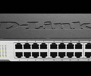 D-Link 24 port 10/100Mbps unmanaged switch (Metal casing, ) UK power plug