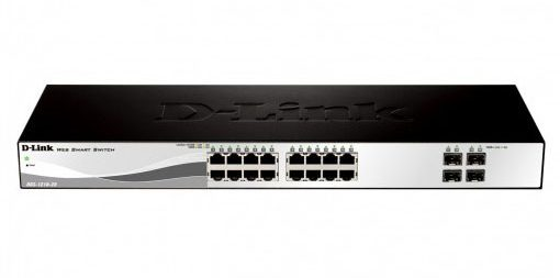 D-Link 16-Port 10/100/1000Base-T with 4 SFP Smart Managed Gigabit Switch DGS-1210-20