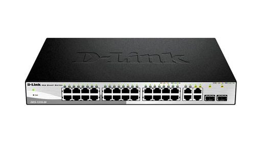 D-Link 24-Port 10/100/1000Base-Twith 4 SFP Smart Switch DGS-1210-28
