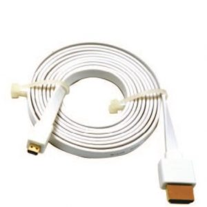 D-Link HDMI 1.4 A TYPE D (HDMI TO MICRO HDMI) 1.8m flat cable, White (PE Packing)