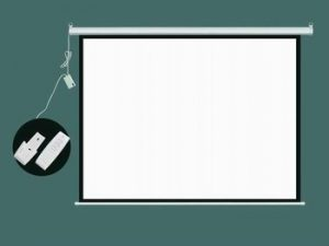 "Projector Electronic Screen Gb 4:3 With R002 Remote (Tuber Motor) 72"" Oley"
