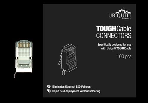 Ubiquiti TOUGHCable RJ45 8P8C Male Connectors, 100 Piece