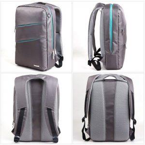"""Kingsons Laptop Backpack 15.6"""" K8533W-G :: Evolution Series - Grey"""
