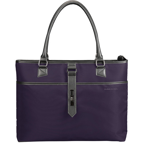 "Kingsons 15.6"" Bella Series Ladies Laptop Shoulder Bag (Purple)"