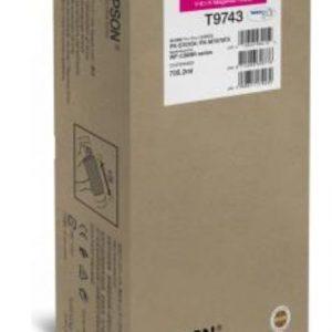 Epson T9743 Original Inkjet Cartridge C13T974300 Magenta XXL for the WorkForce Pro WF-C869R