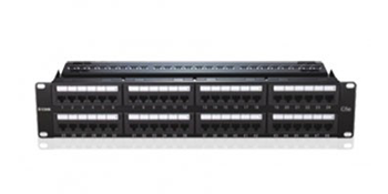 48 Port Cat6 Unshielded Fully Loaded Punch Down Patch Panel - Keystone Type - 2U - Black Colour